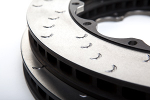 Two-piece floating brake discs